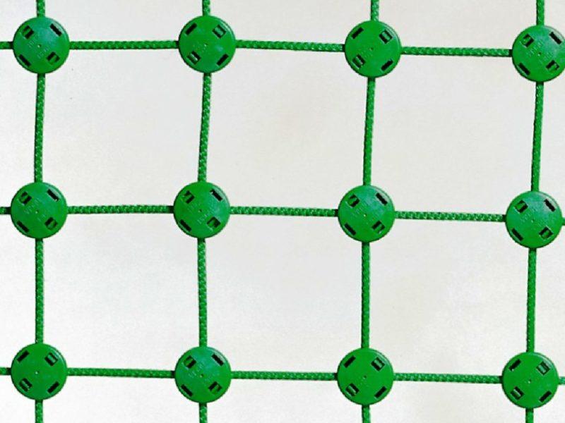 Volleyballnetz Herkules aus Polypropylen 5 mm mit Stahleinlage, Maschenweite: 100 x 100 mm, Farbe: grün von artec Sportgeräte