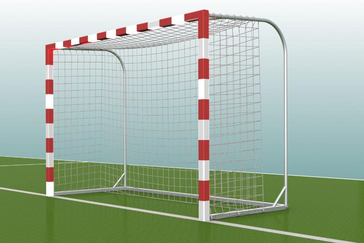 Handballtor mit Netzbügeln aus Aluminium