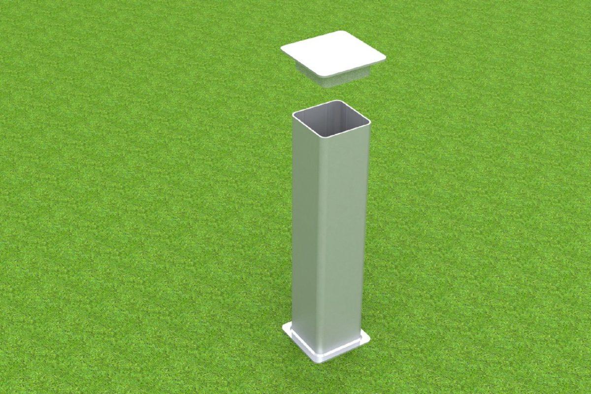 Bodenhülse Standard aus Aluminium für Handballtore von artec