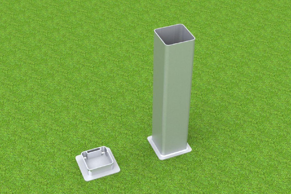 Bodenhülse Standard aus Aluminium für verschiedene Sportarten