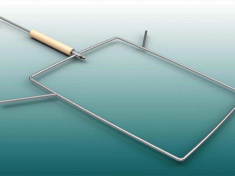 Volleyball-Netzbügel zur Aufbewahrung von Volleyballnetzen, mit Aufhängevorrichtung von artec Sportgeräte