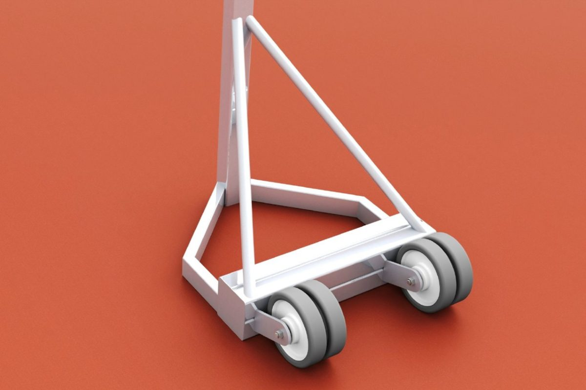 Mobile Volleyballanlage aus Aluminium in Mehrzweckausführung, Profil: 80 x 80 mm von artec