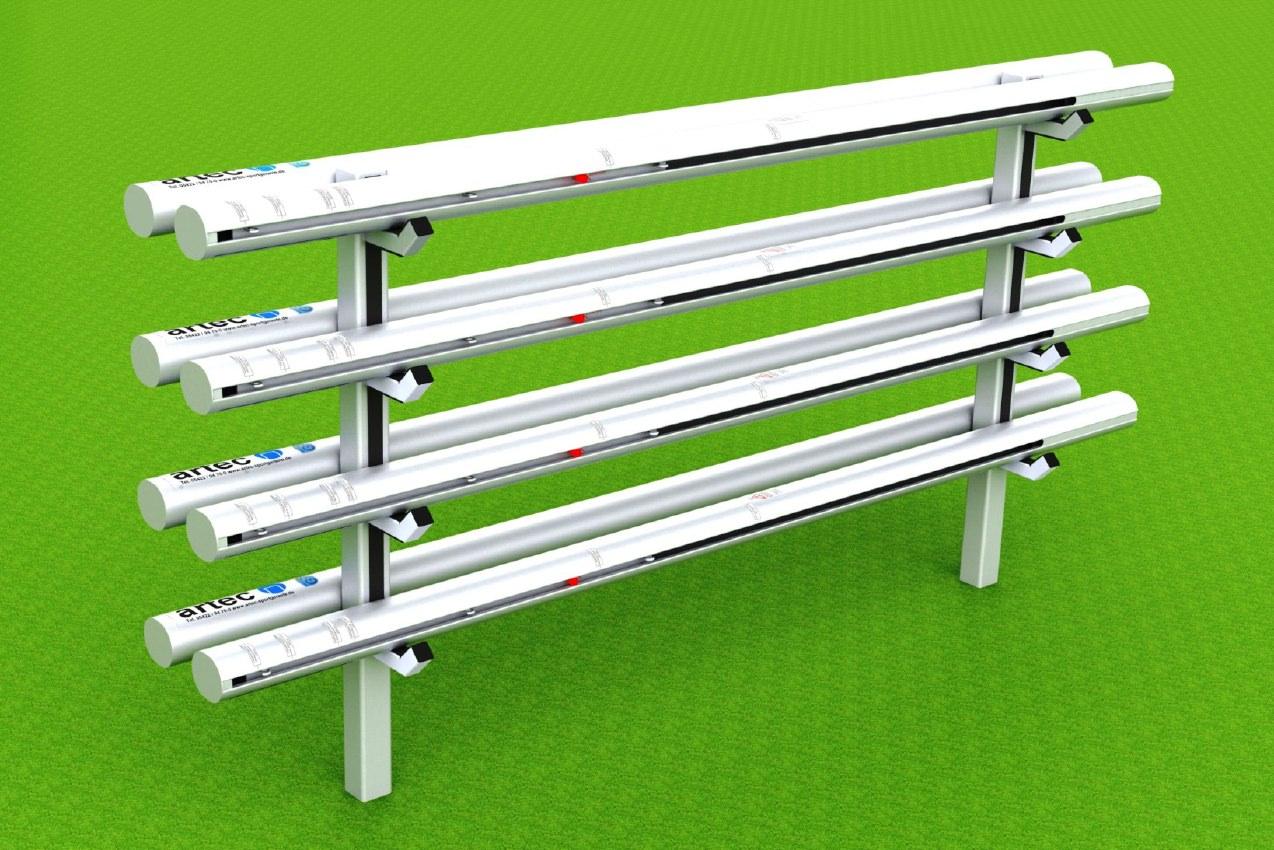 Ständer für Volleyballpfosten, aus Aluminium