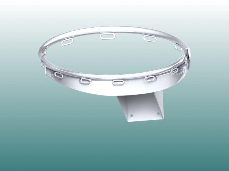 Basketballkorb aus verzinktem Stahl mit Ringösen
