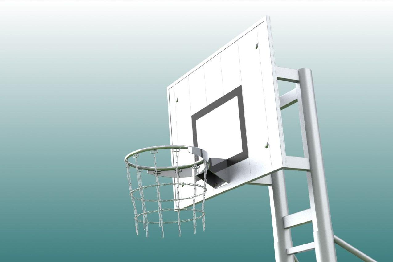Basketball-Kettennetz aus Edelstahl von artec Sportgeräte