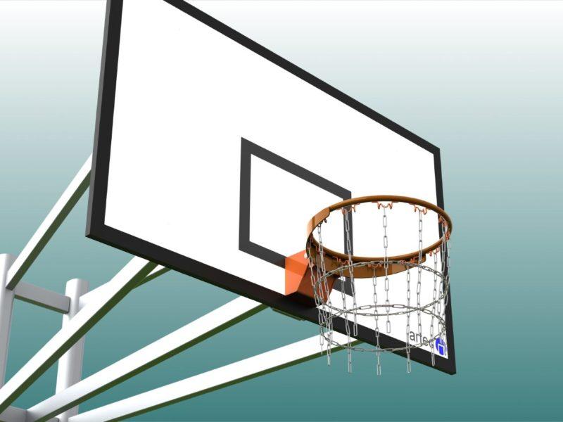 Basketball-Kettennetz aus Stahl, feuerverzinkt