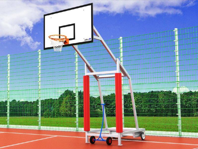 Schutzpolster für mobile Basketball - Anlagen von artec Sportgeräte