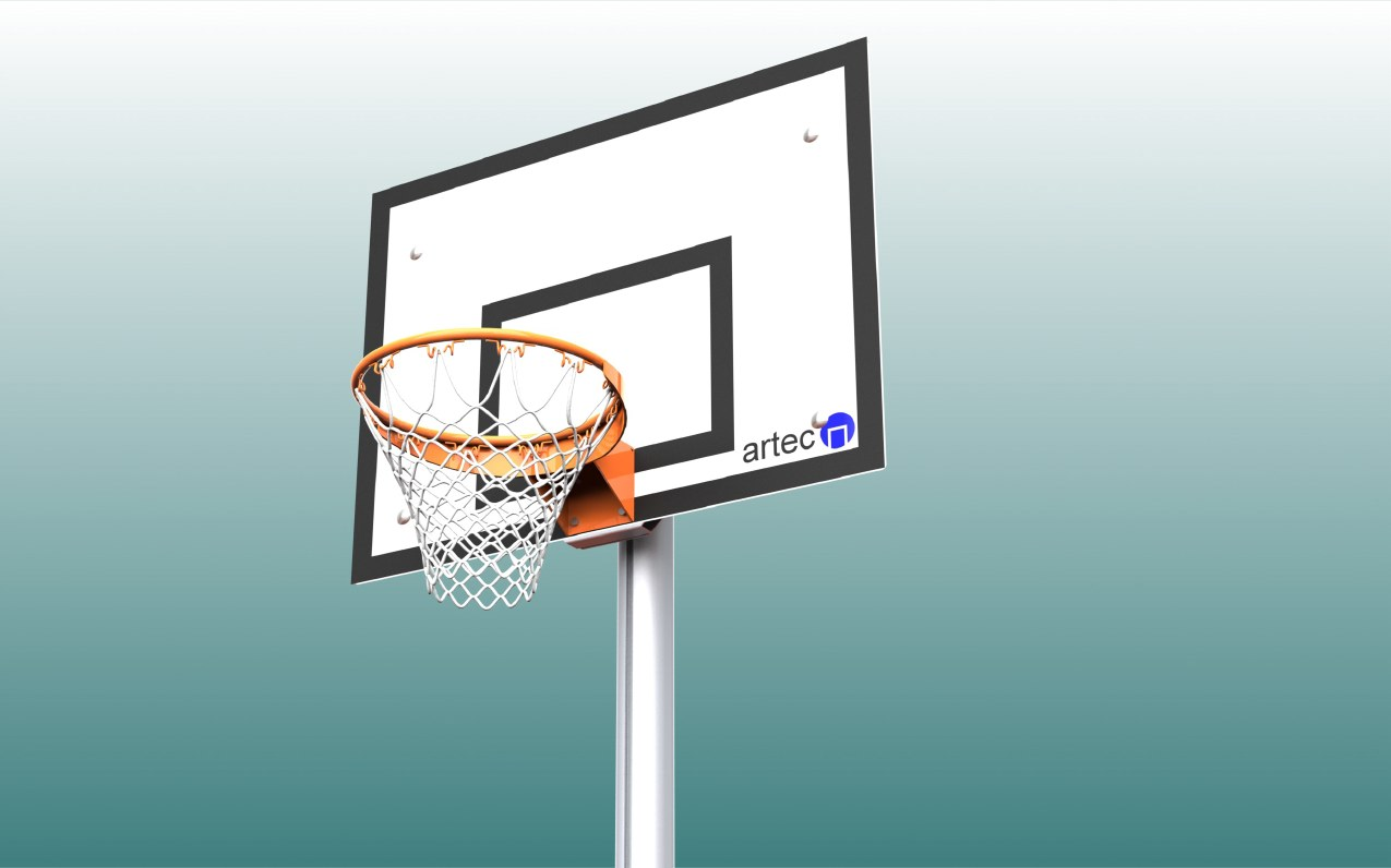 Basketballnetz aus Nylon in Weiß