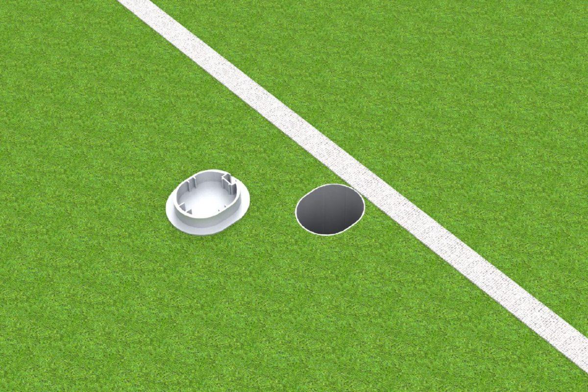 Bodenhülse Standard für Basketball - Einmastständer, Profil 100 x 120 mm artec Sportgeräte