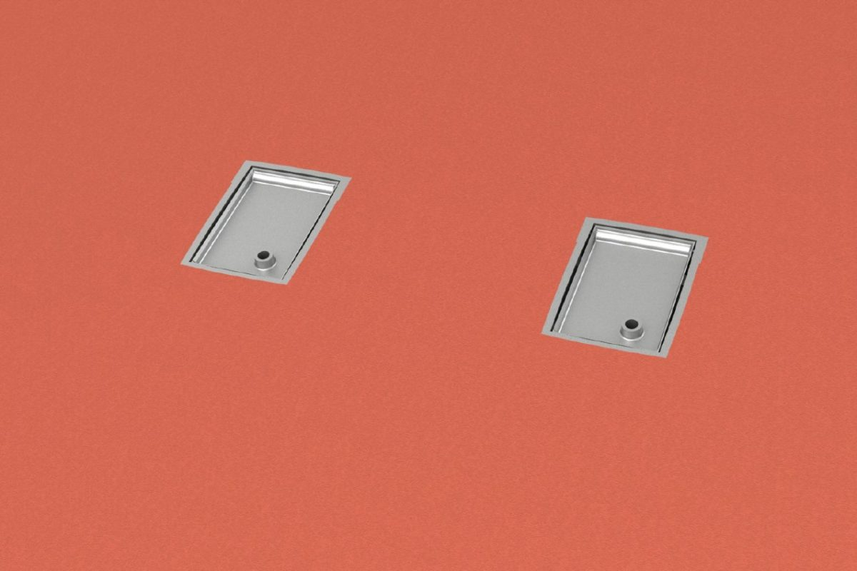 Bodenhülse Spezial für Basketball - Zweimastständer, Profil 100 x 120 mm von artec Sportgeräte