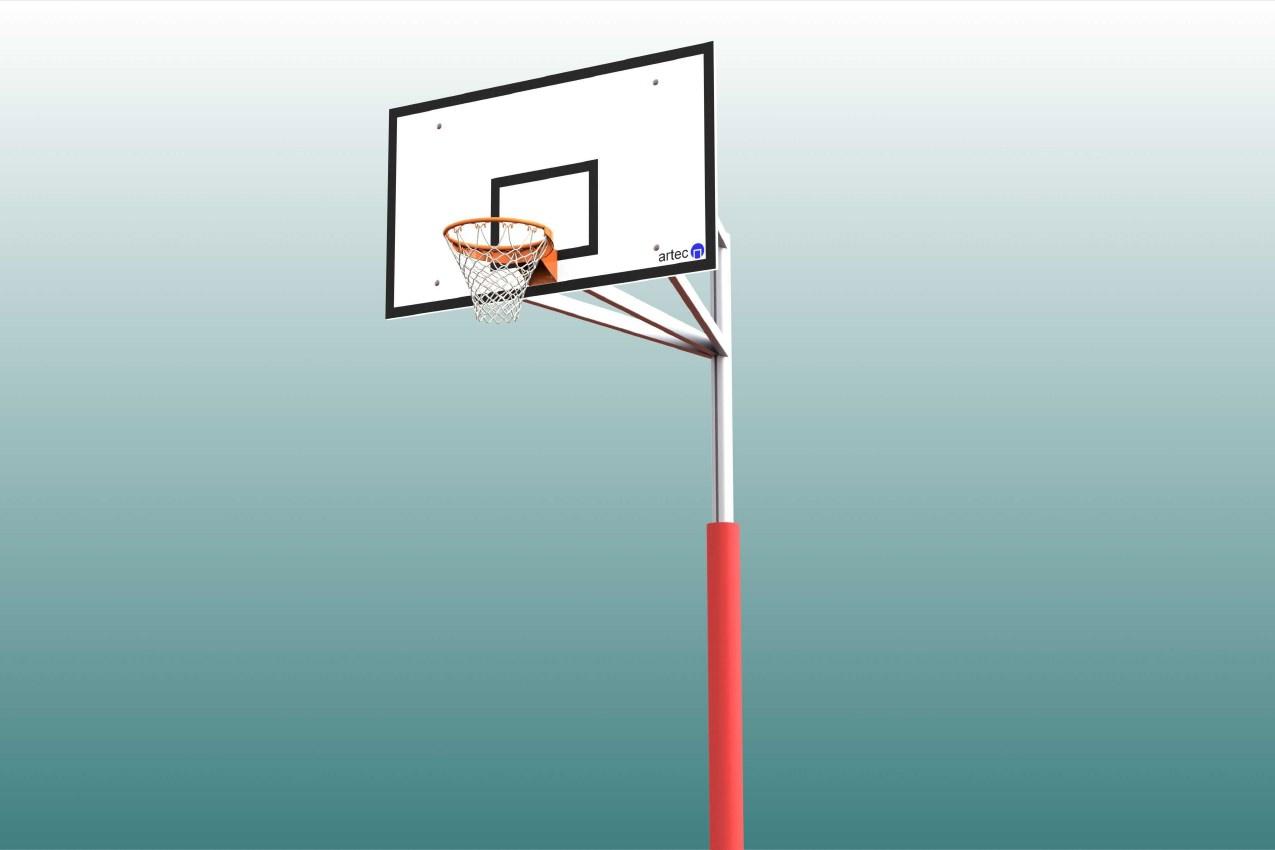 Schutzpolster für Basketball - Einmastständer, Profil: 100 x 120 mm von artec Sportgeräte