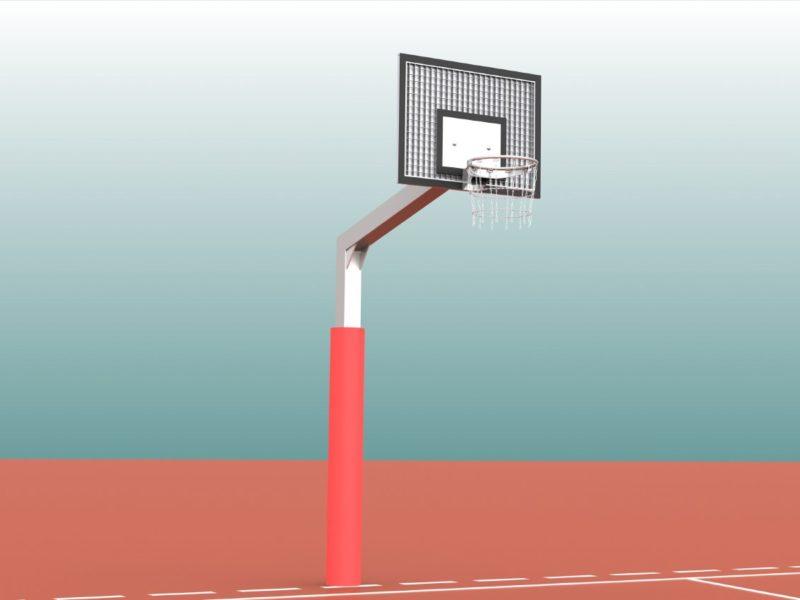 Schutzpolster für Basketball - Einmastständer, Profil: 150 x 150 mm von artec Sportgeräte