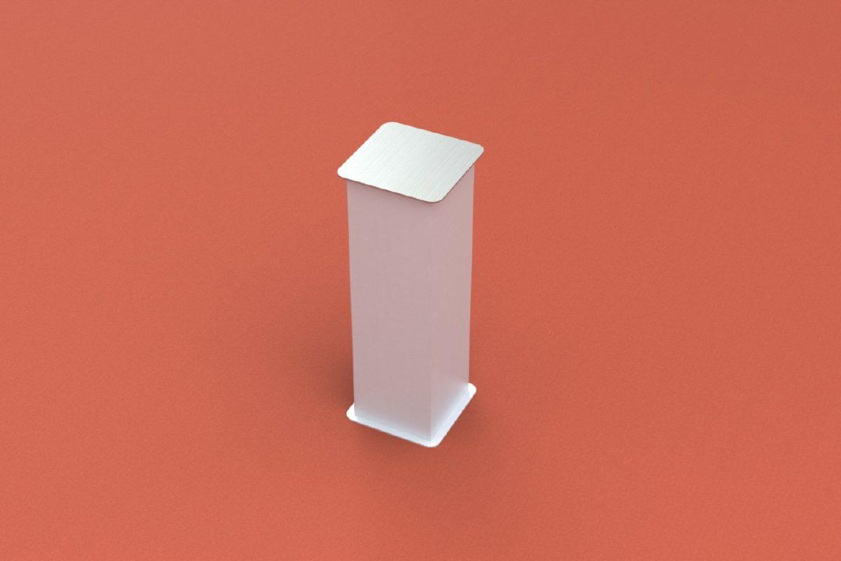 Bodenhülse Standard für Basketball - Einmastständer, Profil 150 x 150 mm von artec