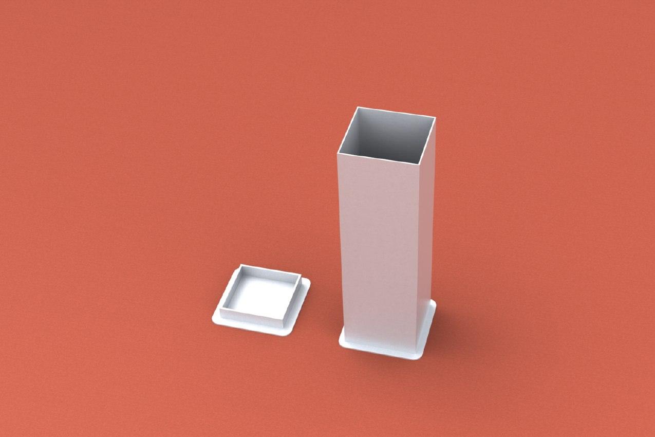 Bodenhülse Standard für Einmastständer, Quadratprofil