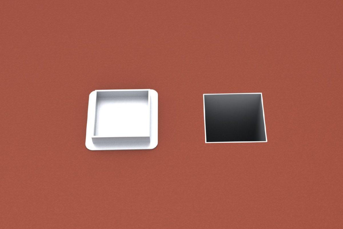 Bodenhülse Standard für Basketball - Einmastständer, Profil 150 x 150 mm artec Sportgeräte