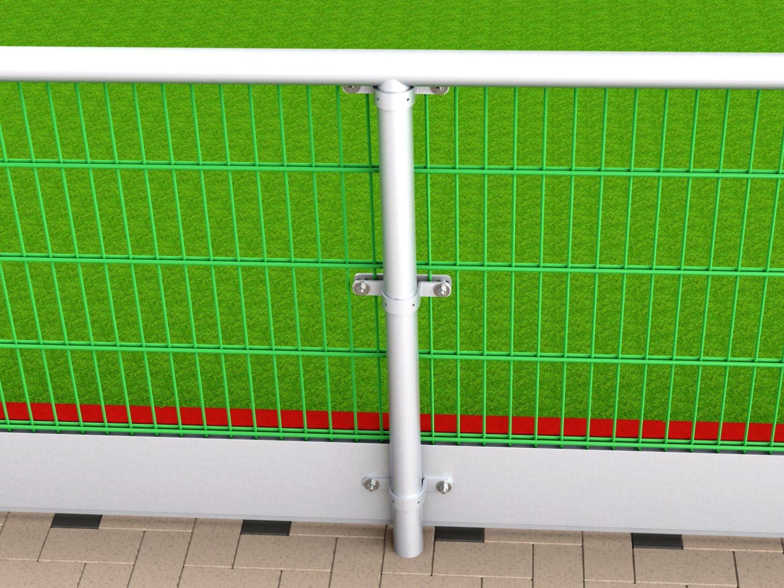 Prallschutzbohle für Hockeyfelder aus Aluminium / Kunststoff von artec 180 m