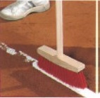 Linienkehrbesen mit Stahlgewinde und Kunststoffborsten (ohne Stiehl)