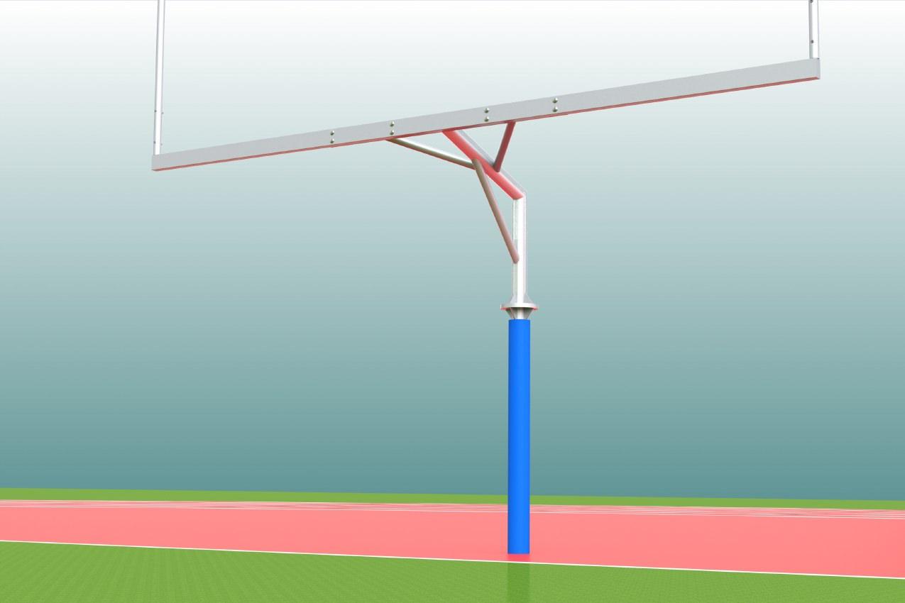 Schutzpolster für Footballtore aus Schaumstoff und PVC