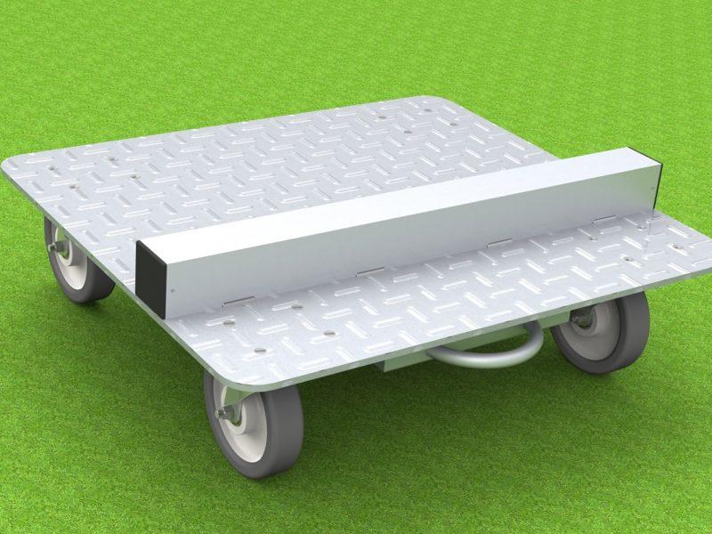 Transportwagen für Betreuerkabinen mit lenkbaren Polyamidrädern
