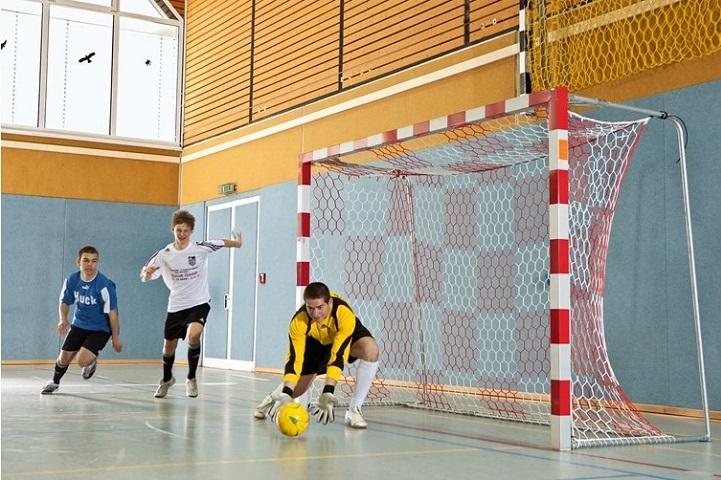 Netz für Futsaltore mit wabenförmigen Maschen