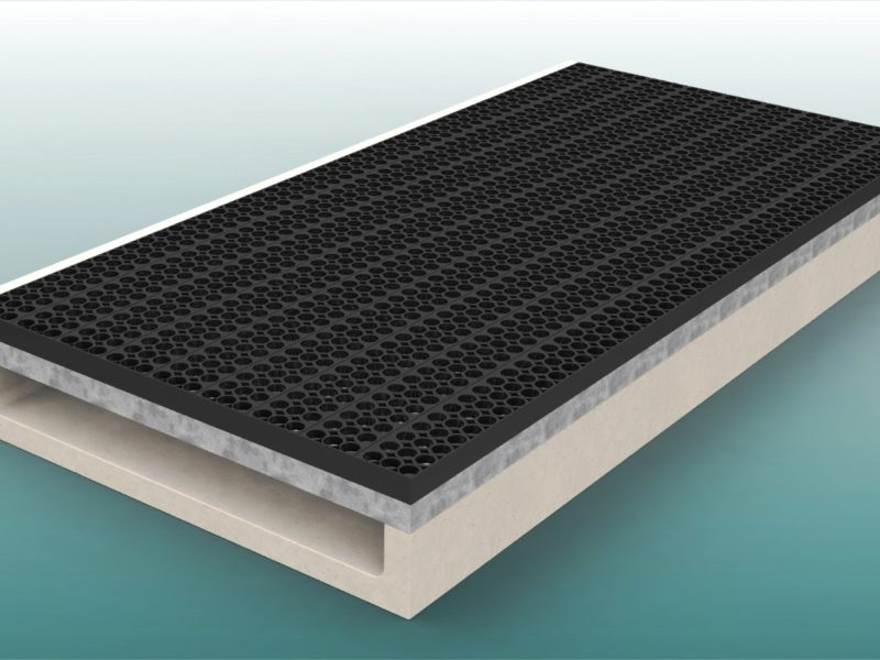 Sandfangrinne aus Polymerbeton für Sprunggrube