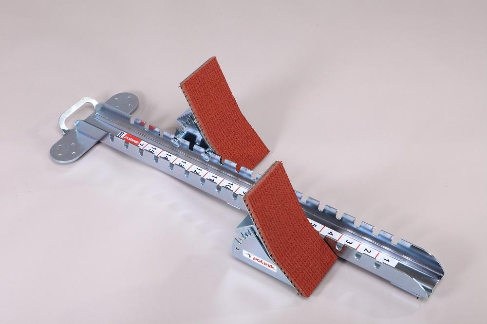 Startblock aus Stahl für den Wettkampf mit hohen Pedalen