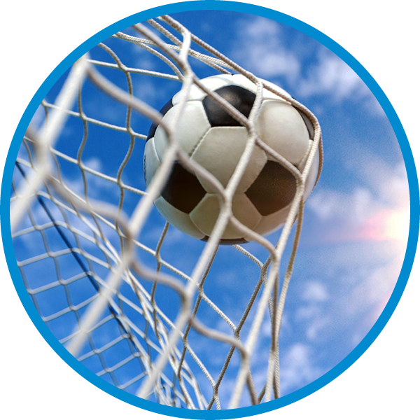 Football goals and sports equipment from the manufacturer