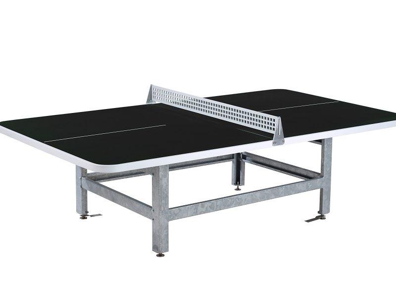 Tischtennistisch mit abgerundeten Ecken Fero P30-R schwarz