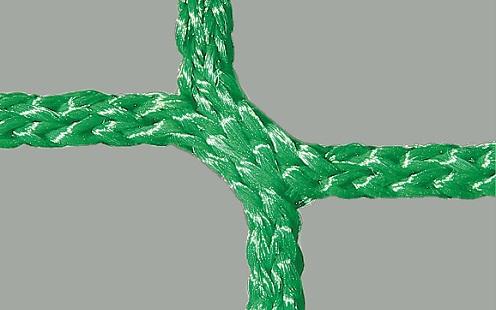 Netz für Fußballtore mit wabenförmigen Maschen in Grün
